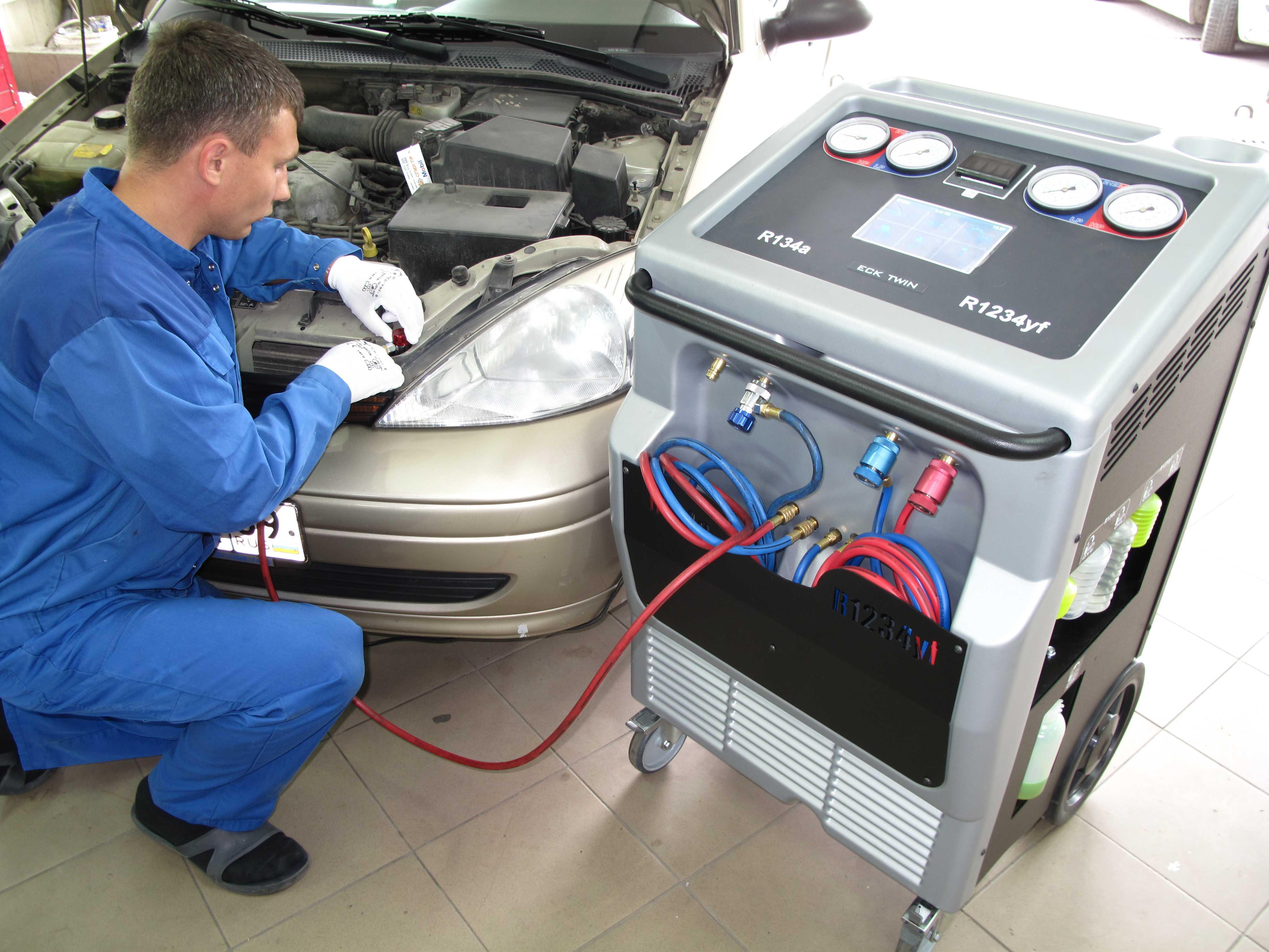 Ремонт установки по заправке автомобильных кондиционеров установка кондиционеров в германии